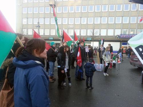 راهپیمایی مردم نروژ در حمایت از مردم غزه