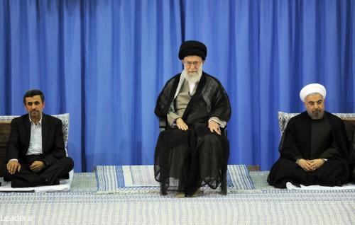 ایت الله خامنه ای تنفید حکم دکتر حسن روحانی